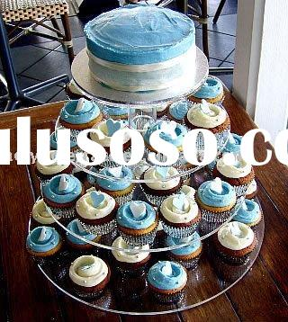 acrylic cupcake display,4 Tier Tubes Cup Cake Stand