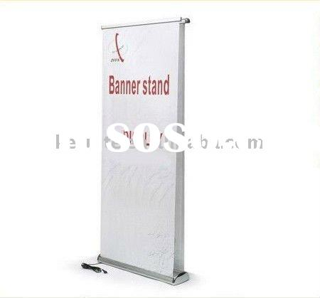 electric double side roll up banner stand