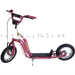 "iScoot Red Push Scooter Bike with Mini Micro Maxi Monster Wheels (12"") - The ultimate Push Bicy"