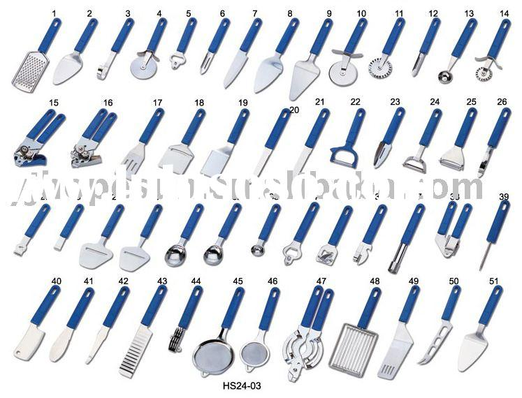 stainless steel kitchen tools  with plastic handle