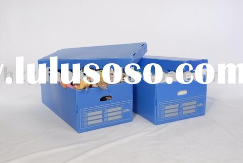 2011 new style foldable transport storage corrugated Plastic box with lid(YF7030)