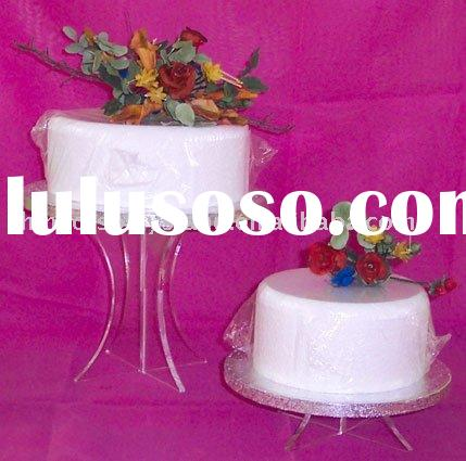 2 tier acrylic wedding cake stands