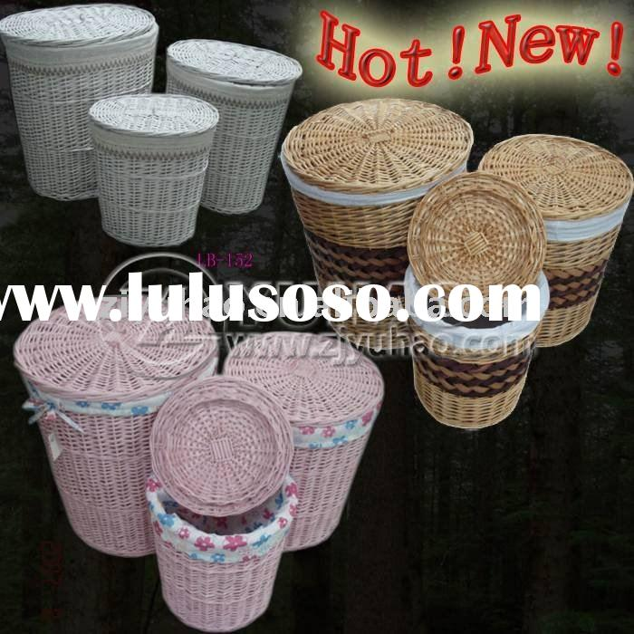 3PCS Colorfull Laundry Basket with Lid