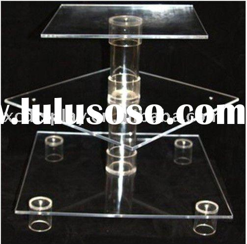 3 tier  Square Acrylic Cake Stand
