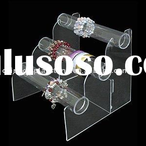 3-tier acrylic jewelry display stand/acrylic jewelry holder