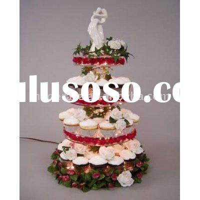 4 layer transparent wedding acrylic cake pop stand