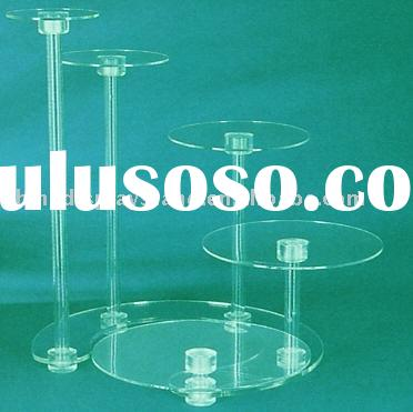 5 tier weddding cake stands,acrylic cake stands