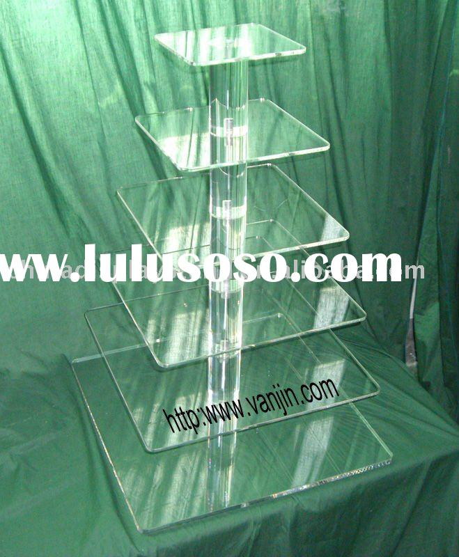 6 tier Acrylic Square Wedding Cake Stand
