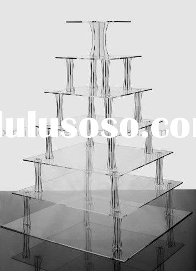 7 Tier Square Acrylic Cake Stand