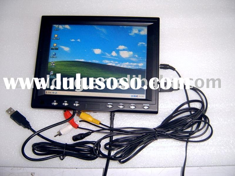 """8"""" Stand VGA Touch Screen LCD Monitor for Computer"""