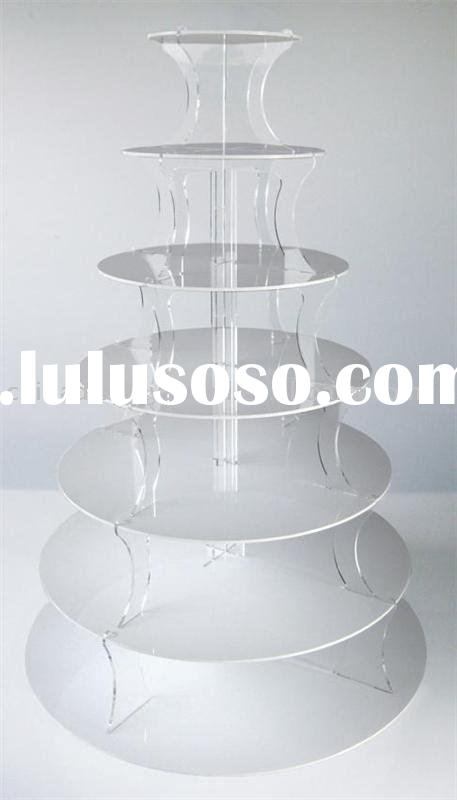 Acrylic 7 TIER WHITE TOWER CUP CAKE STAND