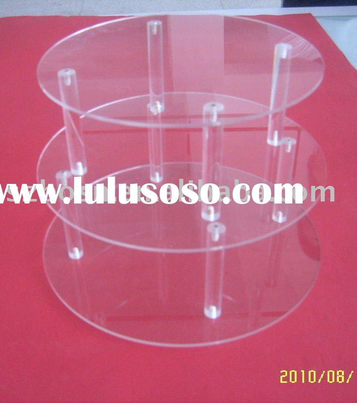 Acrylic Cupcake Display.Acrylic Display Stand,3 Tier Round Cupcake Display