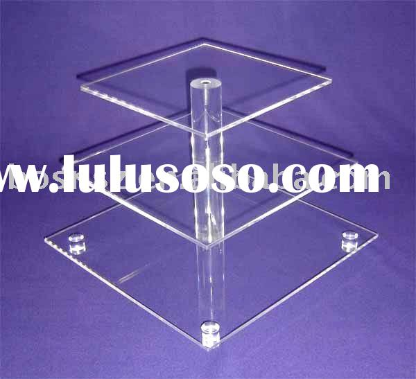 Acrylic Cupcake Stand,Plexiglass Bakery Display Stand,Lucite Pastry Display Rack