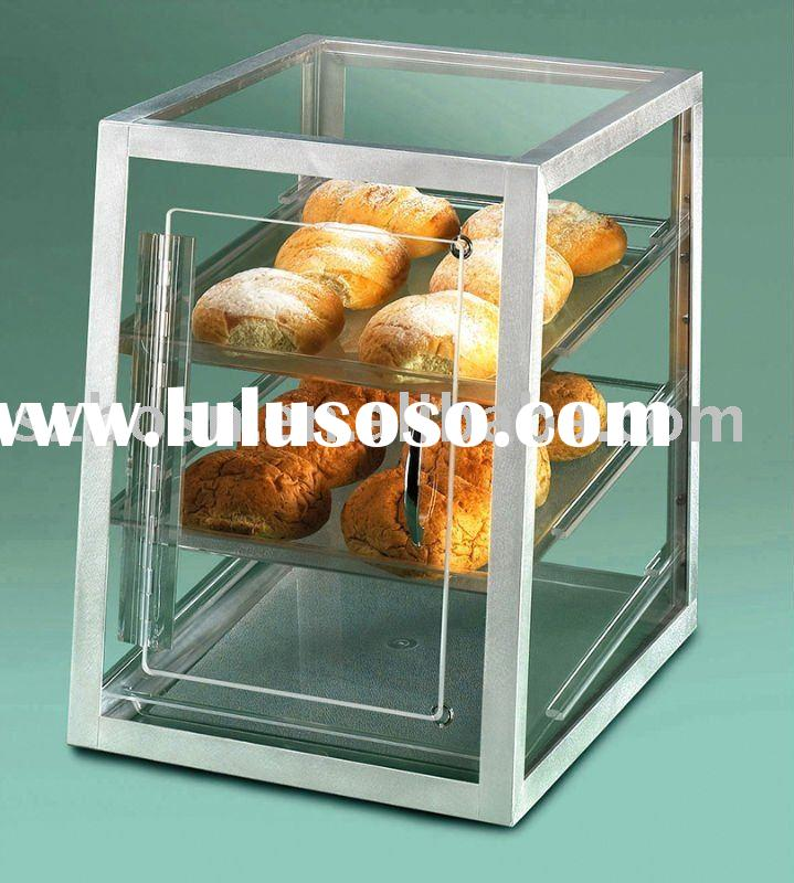 Acrylic bakery display, Perspex Cupcake stand, Plexiglass bread case;
