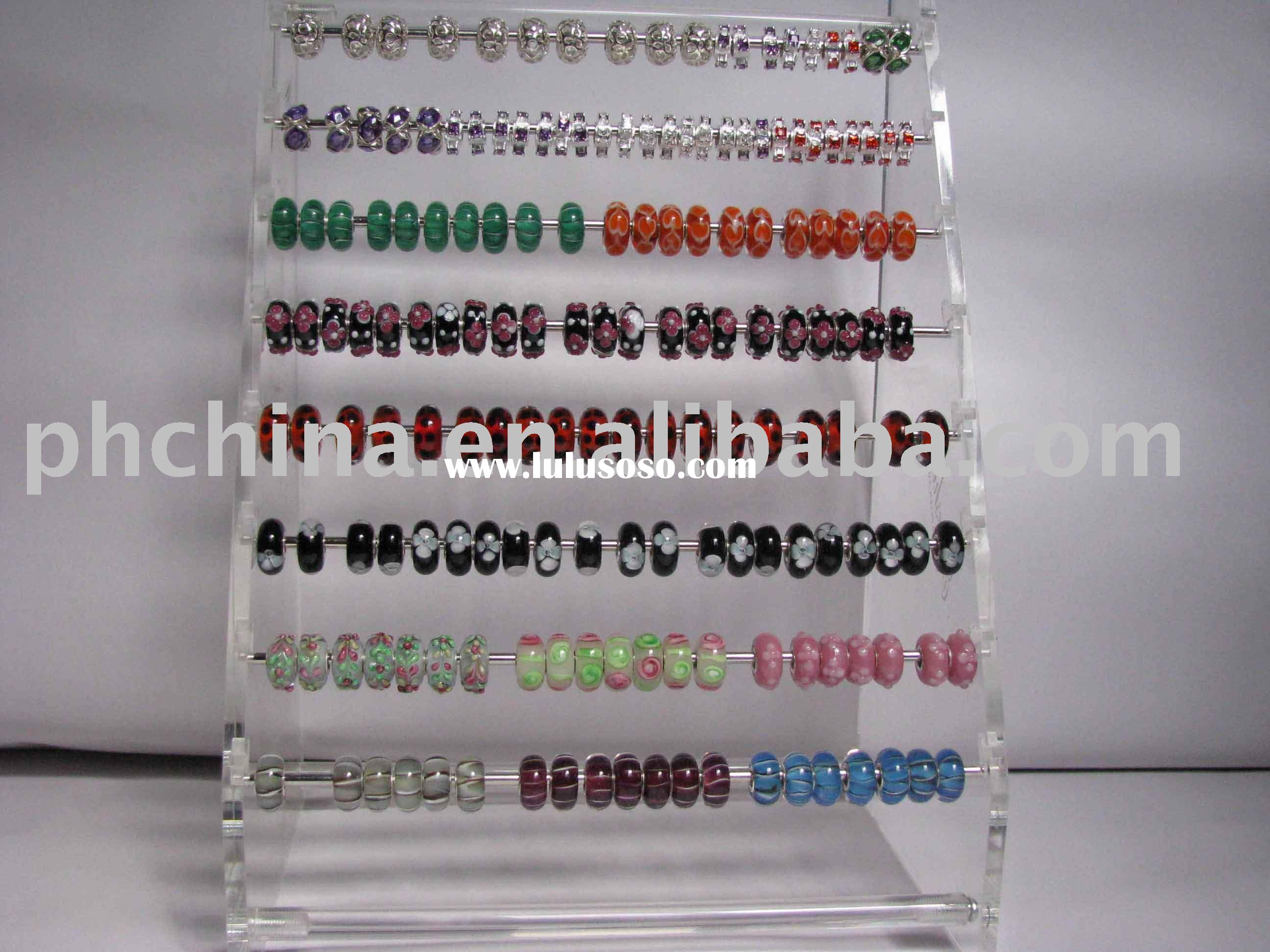 Clear Acrylic Beads & Necklace & Bracelets Display,Acrylic Jewelry Display Stand