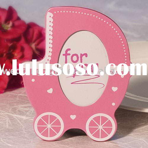 Cute Pink Baby Stroller Photo Frame wedding gift