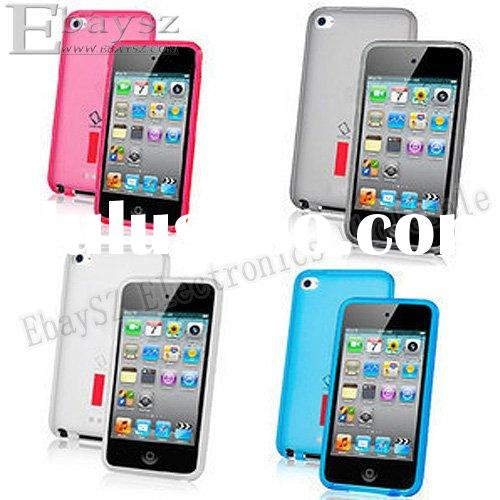 Free shipping,10pcs capdase protective case for iPod touch4 ,Soft Jacket 2 Xpose case for ipod touch