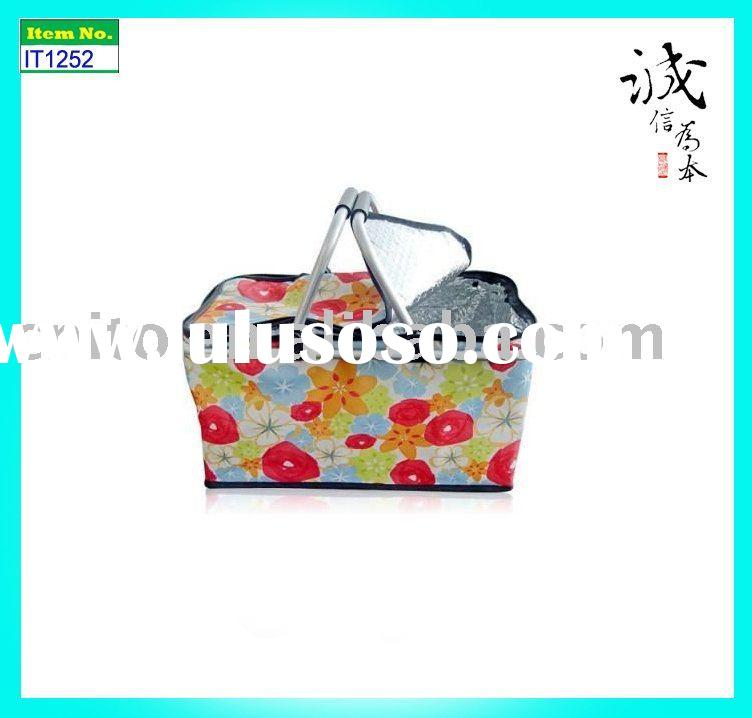 Household Reusable Collapsible Foldable Market Tote Laundry Wash Shopping Fabric Basket Bag
