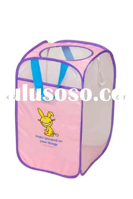 Kids collapsible laundry basket
