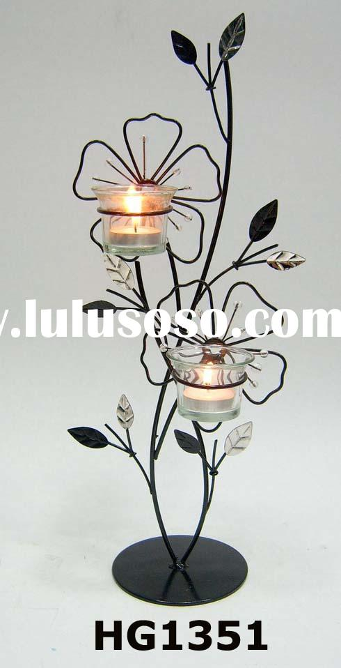 Metal Flower Candle Stand(metal candle holder, metal decoration)