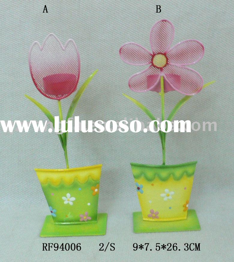 Metal candle holder with flower shape -spring decoration series