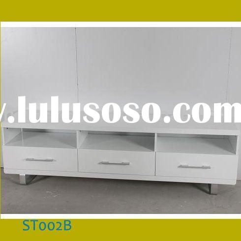 Modern White MDF Living Room TV Stand Cabinet ST002B