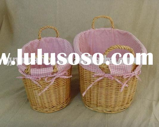 Pink Willow Laundry Basket With Ears