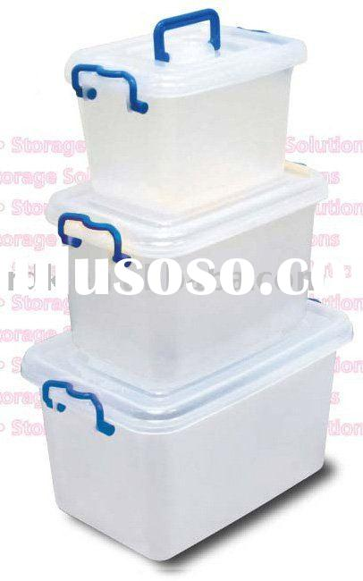 Set of 3 Plastic Storage Box for household storage