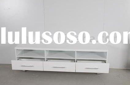 White MDF Living Room TV Stand Cabinet Design