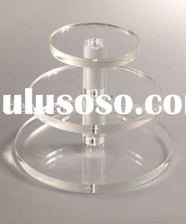 acrylic 3 tier cake stands