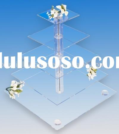 clear 5 tier acrylic cake stand