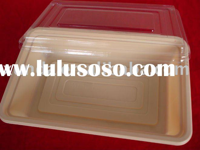 disposable food box/ square food container/ plastic lunch box for packaging