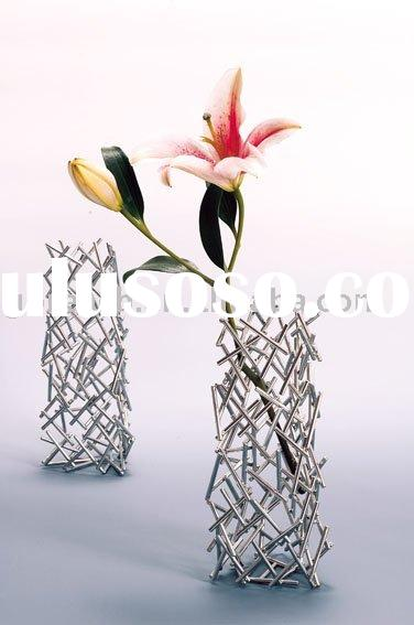 metal flower vase, iron flower pot, aluminium flower stand