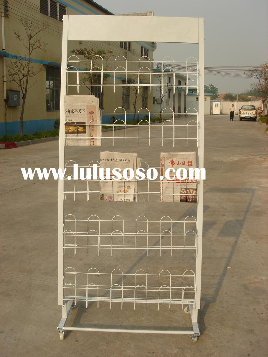 metal wire newspaper stand