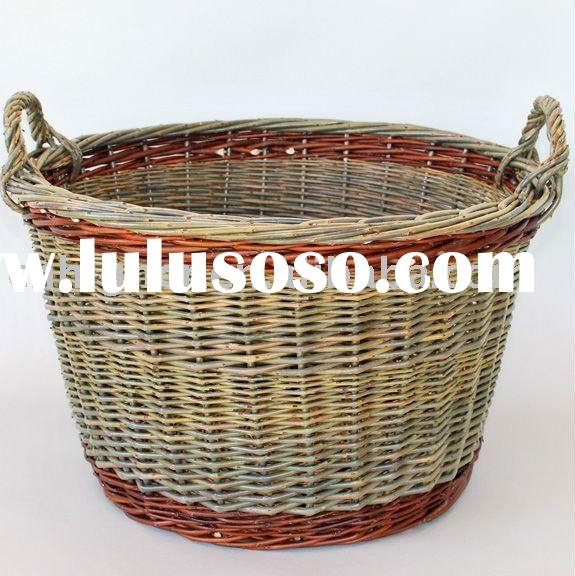 oval wicker laundry basket  rattan willow laundry basket