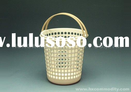 plastic basket with handle,laundry basket,plastic storage basket