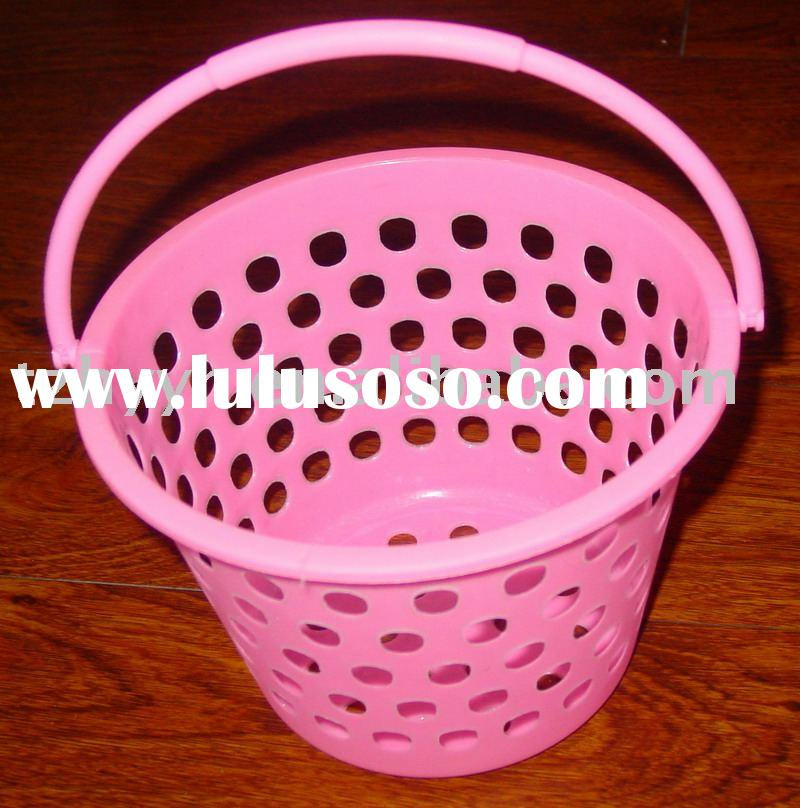 plastic basket with handle,laundry product,storage basket