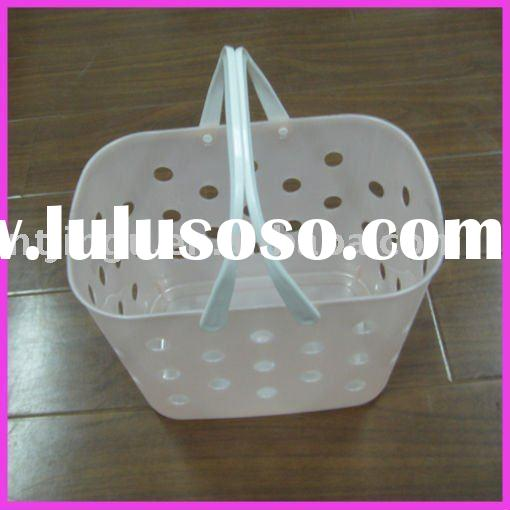 plastic laundry basket with handle