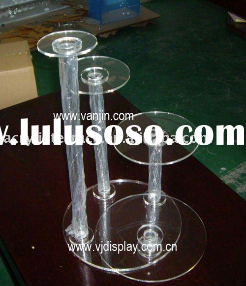 round acrylic wedding cake display stands