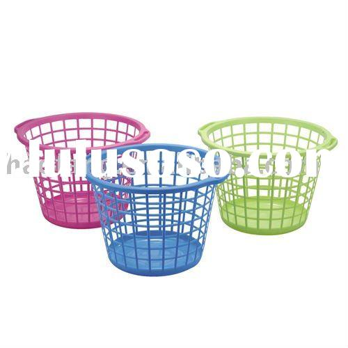 round plastic beautiful laundry basket