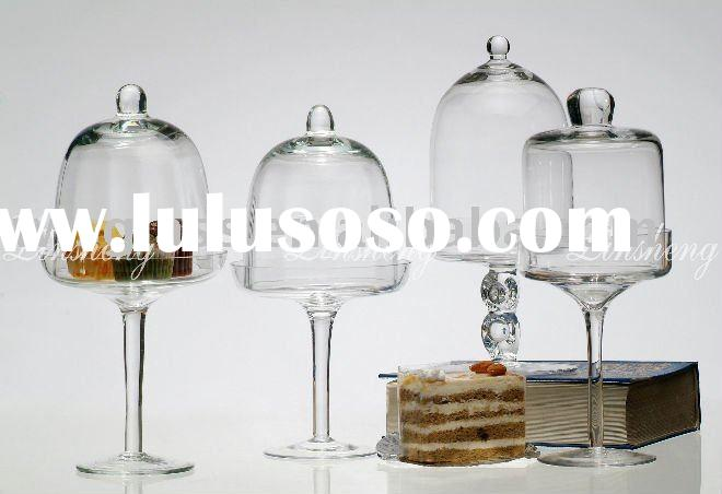 small clear glass cake plate