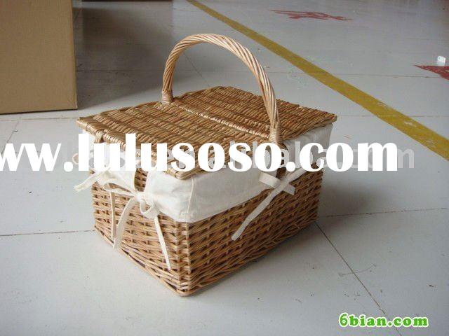 square Picnic basket with lid