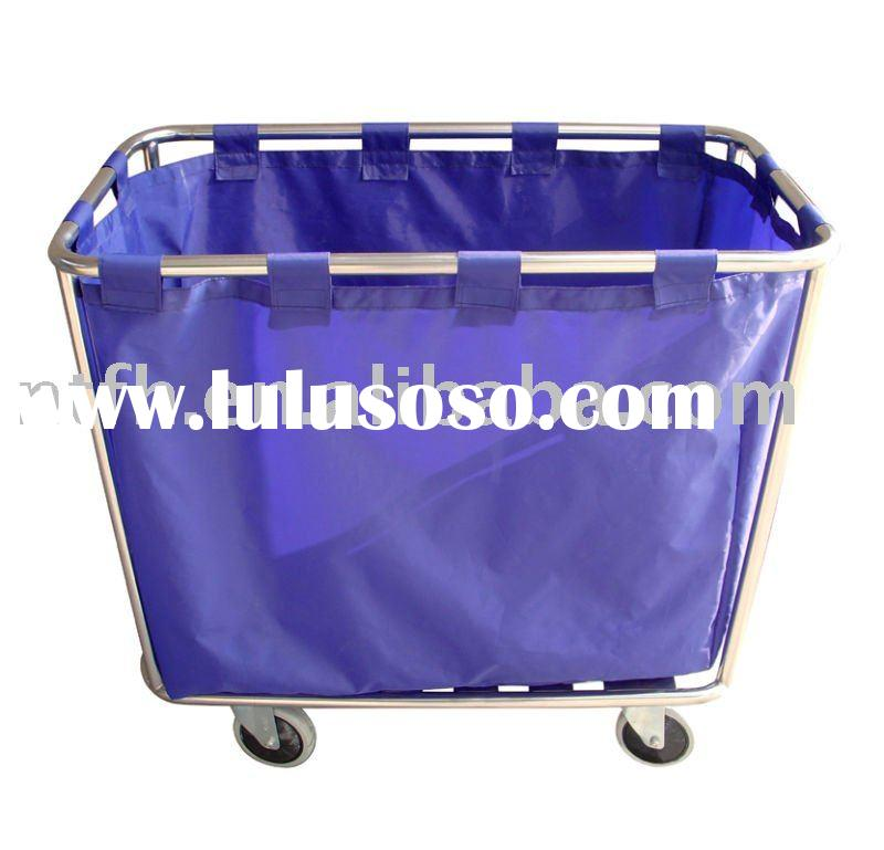 stainless steel laundry cart