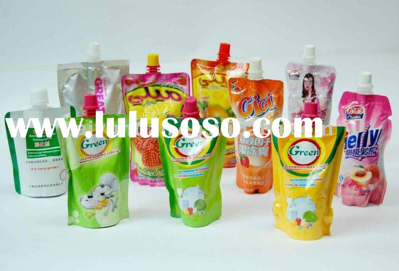 stand up pouch bag with spout for juice