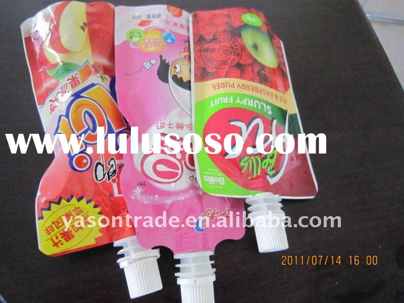 stand up spout pouch plastic fruit juice bag