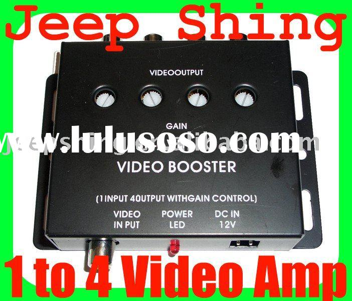 1 to 4 Video Amplifier RCA Splitter Car Distribution