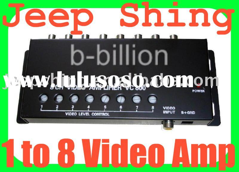 1 to 8 Video Amplifier RCA Splitter Car Distribution
