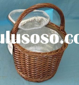 Cooler basket,cooling basket,wicker basket,Cooling bag,basketry from willow for food,bread,fruit on