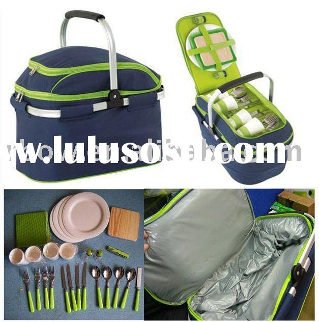 Insulated 4 persons Picnic Basket Set