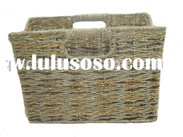 Magazine basket,weaving basket, magazine tote, magazine box